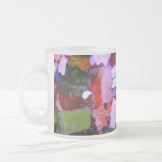 Colored Glitter Spots Frosted Glass Coffee Mug