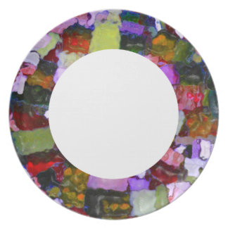 Colored Glitter Spots Party Plates