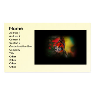 Colored Goldfish Business Card