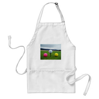Colored Golf Balls, mountain tee Adult Apron