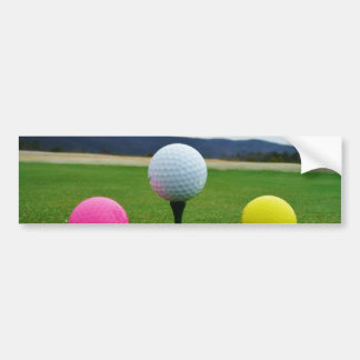 Colored Golf Balls, mountain tee Bumper Sticker