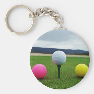 Colored Golf Balls, mountain tee Keychains