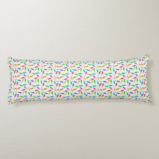Colored Graphing Pencils Body Pillow