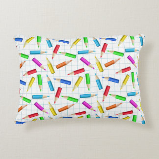 Colored Graphing Pencils Decorative Pillow