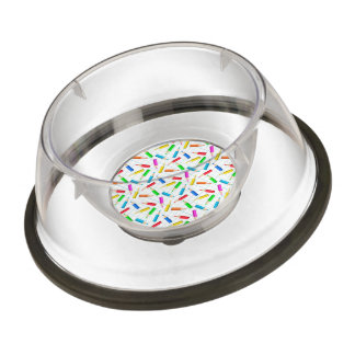 Colored Graphing Pencils Pet Bowl