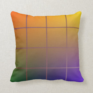 Colored Grid Throw Pillow