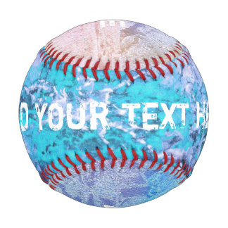 Colored grunge ink painting blue + your ideas baseball