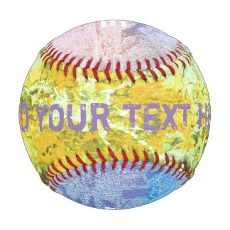 Colored grunge ink painting yellow + your ideas baseball