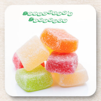 Colored Gummy Square Sweets Drink Coaster