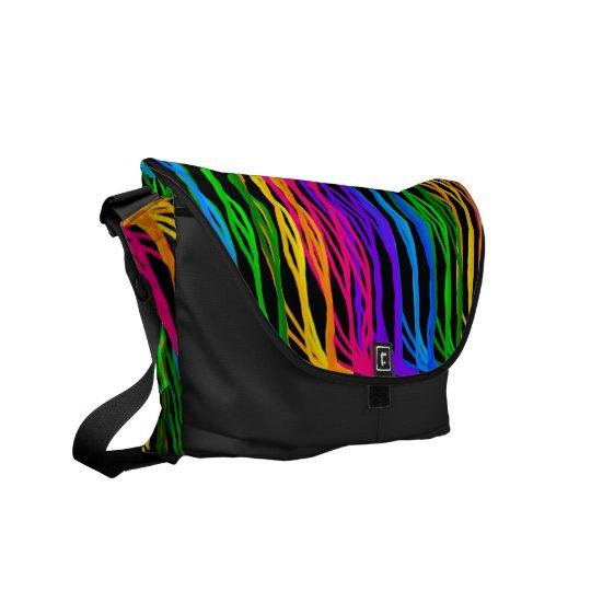 Colored Hair Strands Messenger Bag