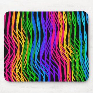 Colored Hair Strands Mousepad