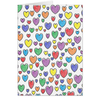 Colored Hearts Card