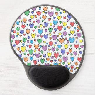 Colored Hearts Gel Mousepad