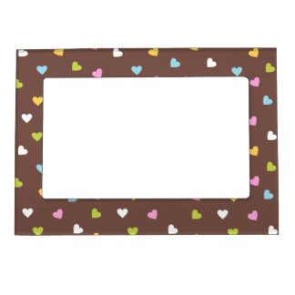 Colored Hearts Magnetic Photo Frame