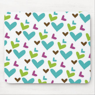 Colored Hearts Mouse Pad