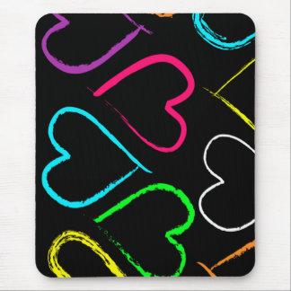 Colored Hearts mousepad