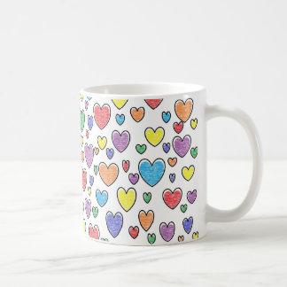 Colored Hearts Mug