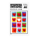 Colored Hearts stamp