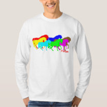 Colored Horses T-Shirt