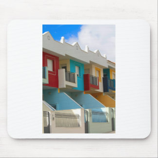 colored houses mouse pad