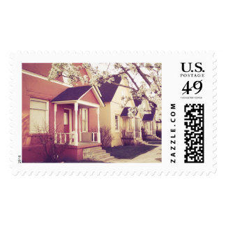 Colored Houses Stamp