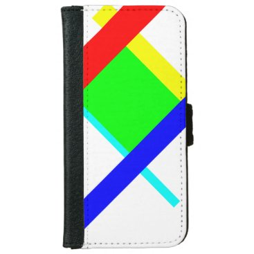 Colored hug iPhone 6/6s wallet case
