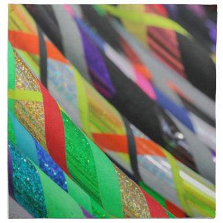 colored hula hoop cloth napkin