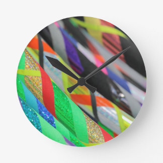 colored hula hoop round clock