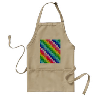 Colored In Graph Paper Squares Adult Apron