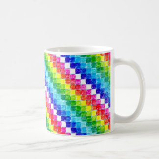 Colored In Graph Paper Squares Coffee Mug