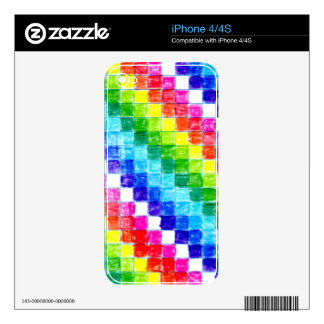 Colored In Graph Paper Squares iPhone 4 Skins