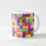 Colored In Graph Paper Squares Jumbo Mug