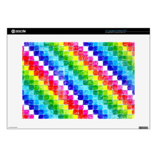 Colored In Graph Paper Squares Laptop Skin
