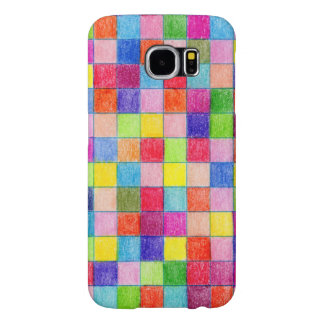 Colored In Graph Paper Squares Samsung Galaxy S6 Case