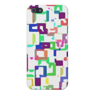 Colored Interconnecting Squares Cover For iPhone SE/5/5s