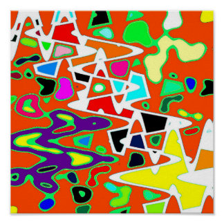 Colored Jigsaw Poster