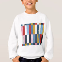 Colored Keyboard (geometric expressionism pattern) Sweatshirt