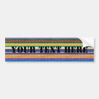 Colored knitting Stripes seamless pattern 1 Bumper Sticker