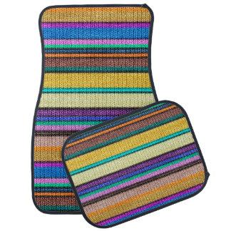 Colored knitting Stripes seamless pattern 1 Car Mat