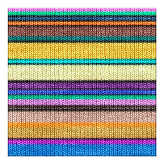 Colored knitting Stripes seamless pattern 1 Card