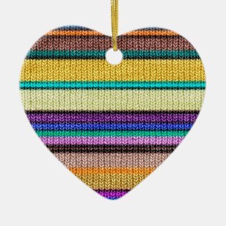 Colored knitting Stripes seamless pattern 1 Ceramic Ornament