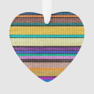 Colored knitting Stripes seamless pattern 1 Ornament