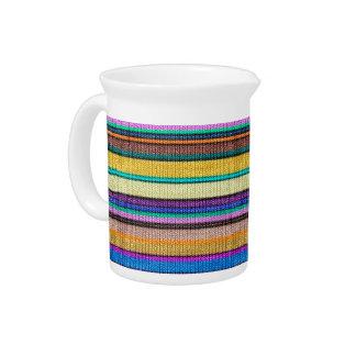 Colored knitting Stripes seamless pattern 1 Pitchers