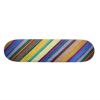 Colored knitting Stripes seamless pattern 1 Skateboard Deck