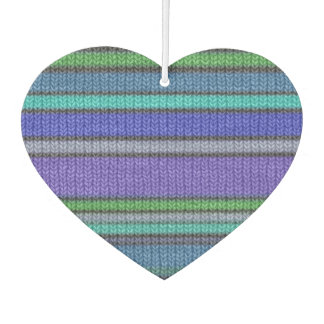 Colored knitting Stripes seamless pattern 2 Air Freshener