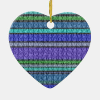 Colored knitting Stripes seamless pattern 2 Ceramic Ornament