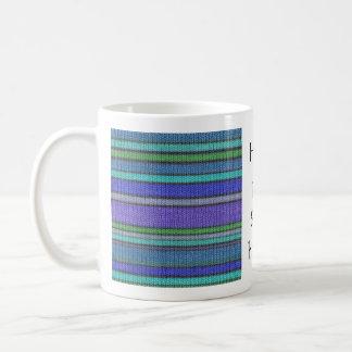 Colored knitting Stripes seamless pattern 2 Coffee Mug