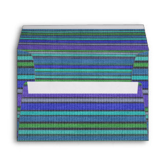 Colored knitting Stripes seamless pattern 2 Envelope