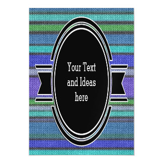 Colored knitting Stripes seamless pattern 2 Magnetic Card