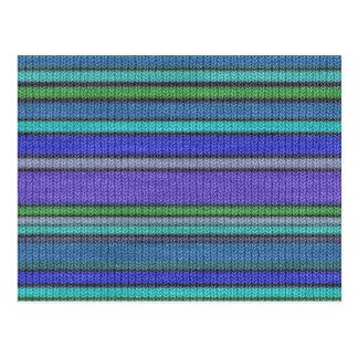Colored knitting Stripes seamless pattern 2 Postcard